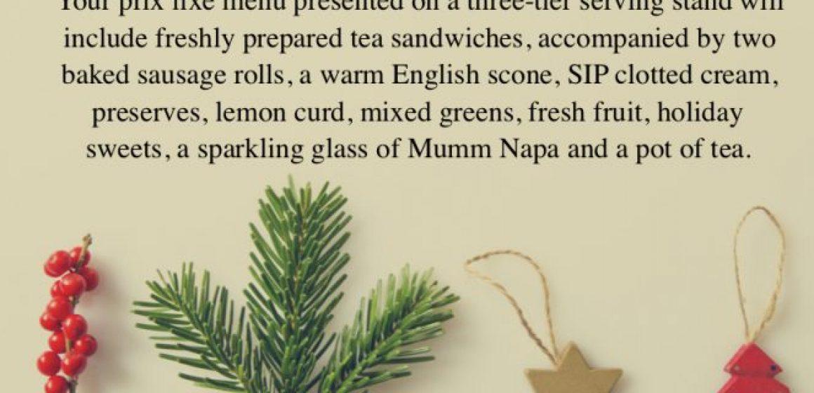 Tea for Holiday Celebration 2020